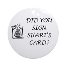 Shari's Card Ornament (Round)