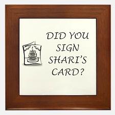 Shari's Card Framed Tile