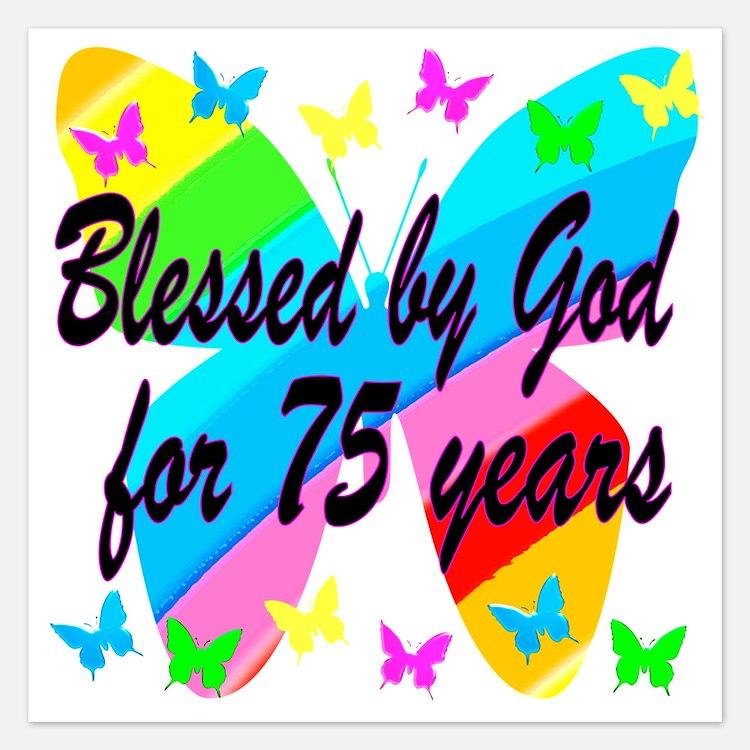 75Th Birthday Party Invitations for 75th Birthday Party – 75th Birthday Party Invitations