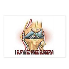 Knee Surgery Gift 4 Postcards (Package of 8)