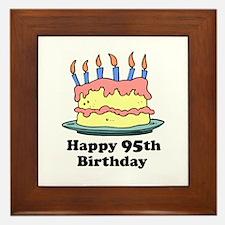 Happy 95th Birthday Framed Tile