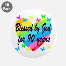 "90TH PRAYER 3.5"" Button (10 pack)"