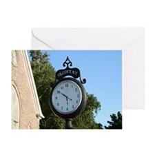 Olcott Village Clock Greeting Card