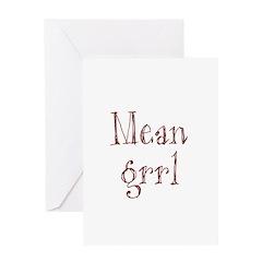 Mean Grrl Greeting Card
