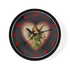 Victorian Angel Heart Wall Clock