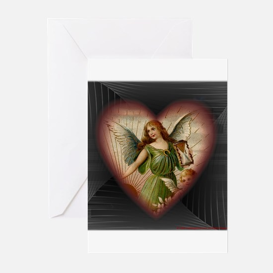 Victorian Angel Heart Greeting Cards (Pk of 10