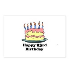 Happy 93rd Birthday Postcards (Package of 8)
