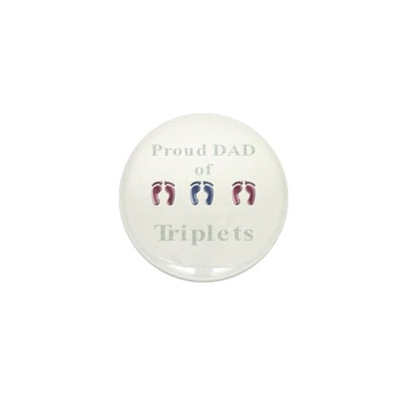 Proud Dad of Triplets Mini Button (10 pack)