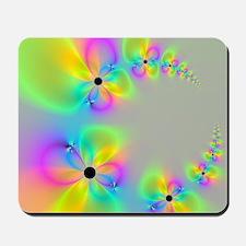 Fractal Flower Circle Mousepad