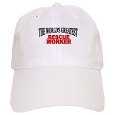"""""""The World's Greatest Rescue Worker"""" Baseball Cap"""