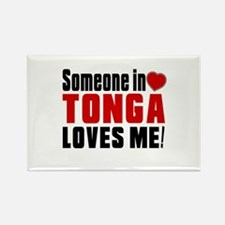 Someone In Tonga Loves Me Rectangle Magnet