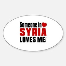 Someone In Syria Loves Me Sticker (Oval 50 pk)