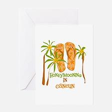 Honeymoon Cancun Greeting Card