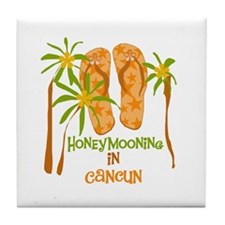 Honeymoon Cancun Tile Coaster