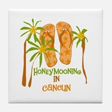 Honeymoon Cancun Tile Coaster