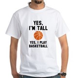 Basketball Mens White T-shirts