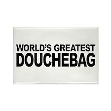 World's Greatest Douchebag Rectangle Magnet