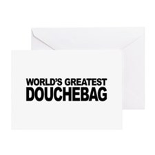 World's Greatest Douchebag Greeting Card