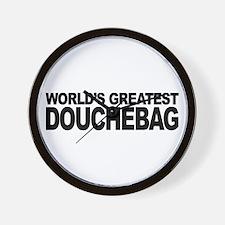World's Greatest Douchebag Wall Clock