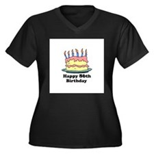 Happy 86th Birthday Women's Plus Size V-Neck Dark