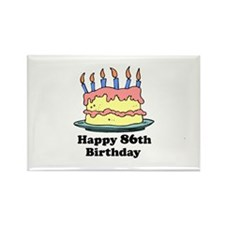 Happy 86th Birthday Rectangle Magnet (100 pack)