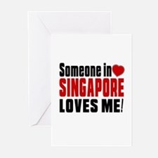 Someone In Singapore Lov Greeting Cards (Pk of 10)
