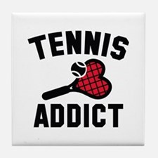 Tennis Addict Tile Coaster