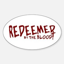 Redeemed by the Blood Oval Decal