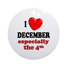 December 4th Ornament (Round)