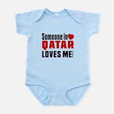 Someone In Qatar Loves Me Infant Bodysuit