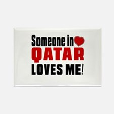 Someone In Qatar Loves Me Rectangle Magnet