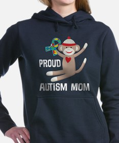 Proud Autism Mom Puzzle Ribbon Women's Hooded Swea