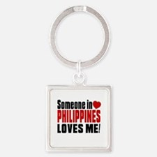 Someone In Philippines Loves Me Square Keychain