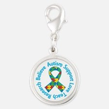 Autism Spectrum Puzzle Ribbon support Charms