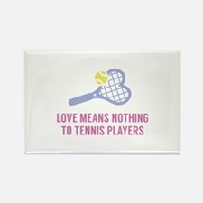 Love Means Nothing Rectangle Magnet
