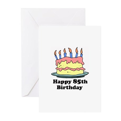 Happy 85th Birthday Greeting Cards (Pk of 20)