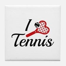 I Love Tennis Tile Coaster