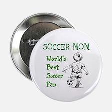 """Soccer Mom - Best Fan 2.25"""" Button"""