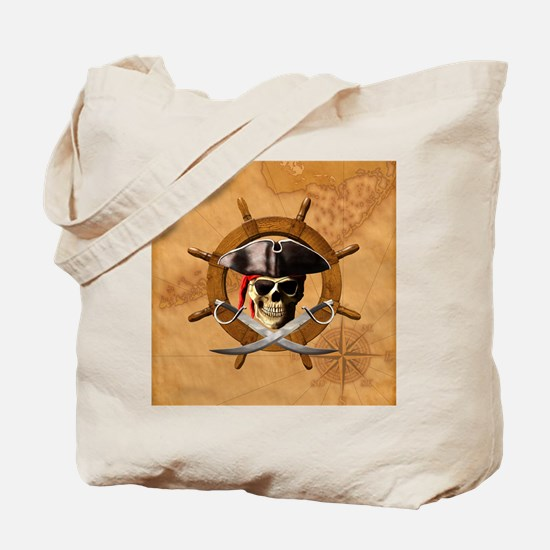 Jolly Roger Pirate Wheel Tote Bag