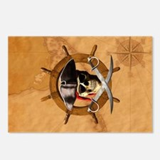Jolly Roger Pirate Wheel Postcards (Package of 8)