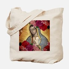 Virgin of Guadalupe with Roses Tote Bag