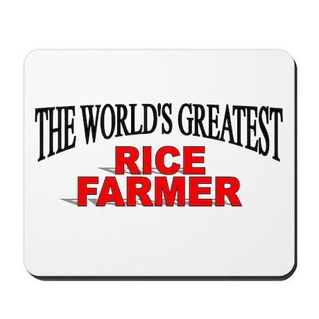 """""""The World's Greatest Rice Farmer"""" Mousepad"""