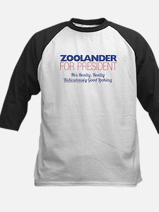 Zoolander for President Kids Baseball Jersey