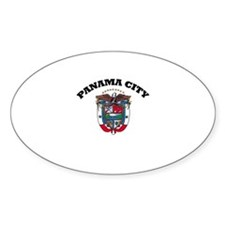 Panama City, Panama Oval Decal