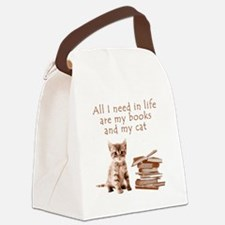 Cats and books Canvas Lunch Bag