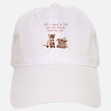 Cats and books Baseball Hat