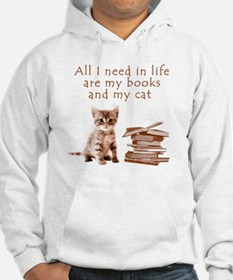 Cats and books Hoodie