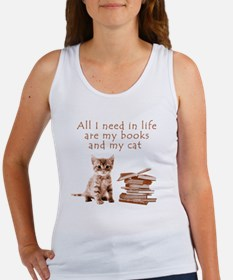Cats and books Tank Top