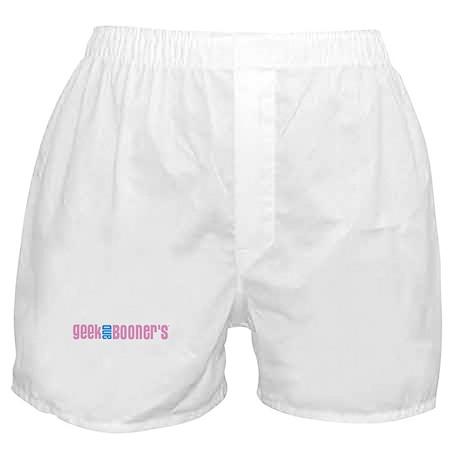 Geek & Booner's Pink Logo Boxer Shorts
