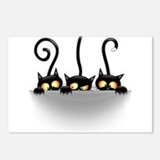 Three Naughty Playful Kitties Postcards (Package o